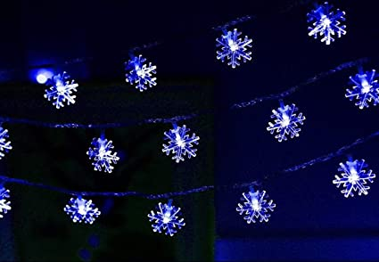 MEKEET Christmas Snowflake String Lights Battery Operated Waterproof Fairy String  Lights for Party, Wedding, - Amazon.com : MEKEET Christmas Snowflake String Lights Battery