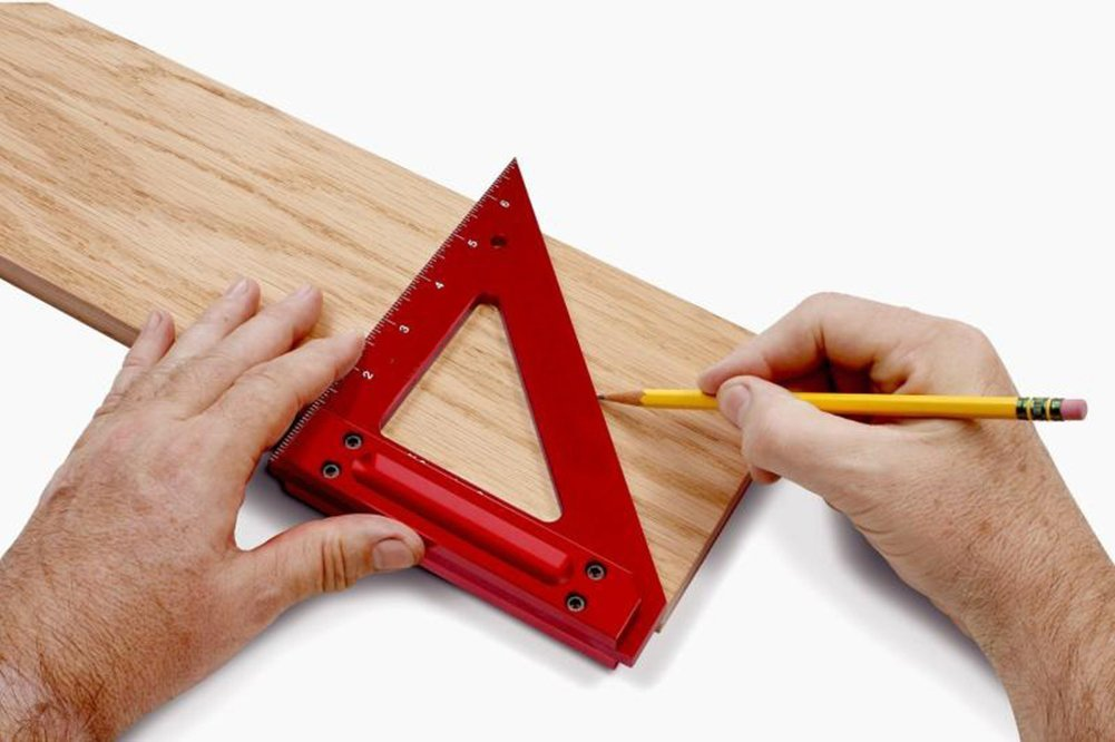 Aluminum Triangle Ruler Woodworking Roofing Rafter Square Protractor Woodworking Measuring Tool