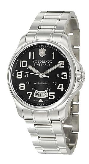 Victorinox Swiss Army - Reloj analógico automático para Hombre con Correa de Acero Inoxidable, Color Plateado: Amazon.es: Relojes