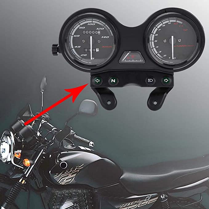 DC 12V Moto Moto 12000RPM LCD Od/ómetro Veloc/ímetro para Yamaha YBR 125 Veloc/ímetro de motocicleta y medidor de aceite en uno