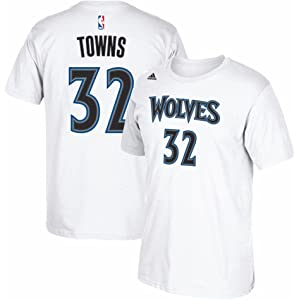 Karl-Anthony Towns Minnesota Timberwolves NBA Adidas White Name & Number Player Jersey Team Color