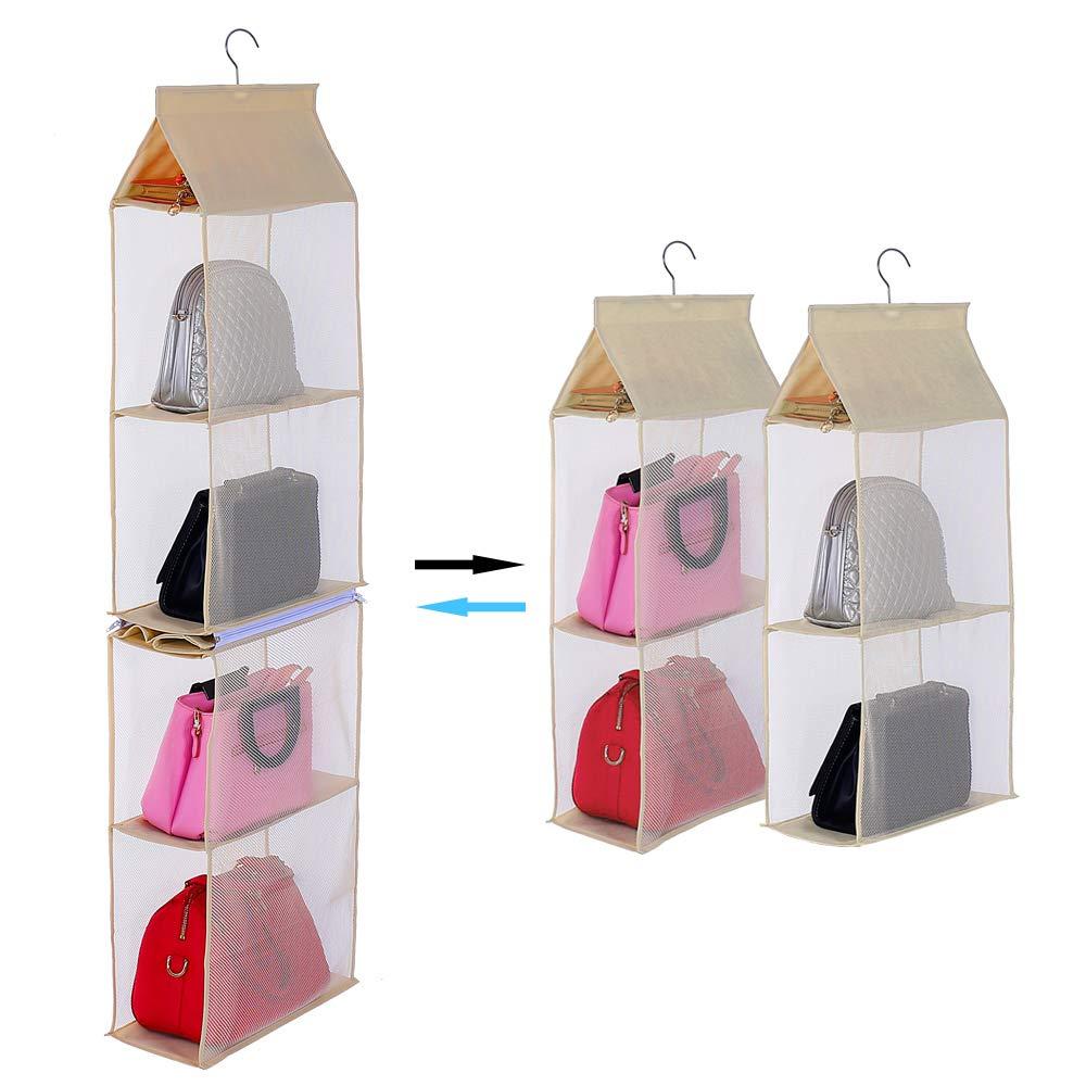 Gray KEEPJOY Detachable Hanging Handbag Organizer Purse Bag Collection Storage Holder Wardrobe Closet Space Saving Organizers System