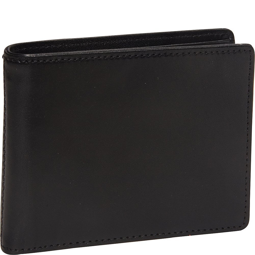 Bosca Men's Genuine Leather Bifold Executive ID Wallet (Black)