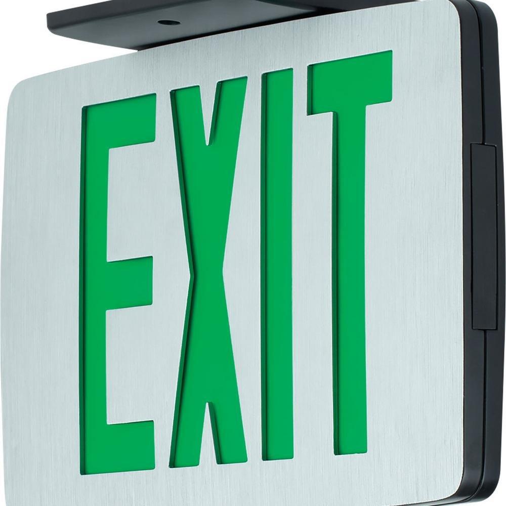 Progress Commercial PEALE-SG-EM-16 LED Exit Sign, Die-Cast Aluminum