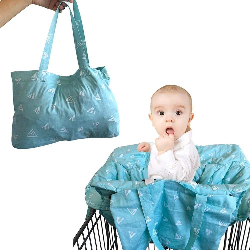Globalqi Bebe Cojín Carro de Compras del supermercado Silla de Comedor para niños Protección Seguridad Viajes Portátil Estera