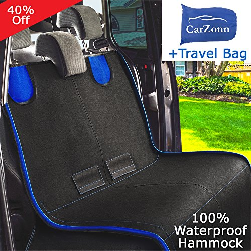 Dog Seat Covers - Pet Seat Covers -Dog Car Seat Covers for Dogs-Dog Hammock-Pet Car Seat Covers for Pets-Car Seat Hammock-Back Seat Covers for Small and Large Dogs for Trucks- SUV Waterproof Durable