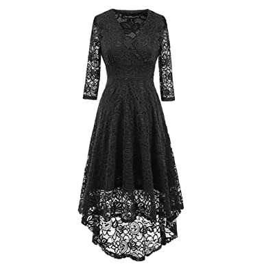 Eliffete Black Wedding Gowns Lace Formal Prom Dresses Cocktail 2018 for Women