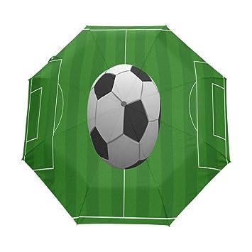 Enne paraguas fútbol plegable compacto viaje paraguas lluvia viento UV Protección