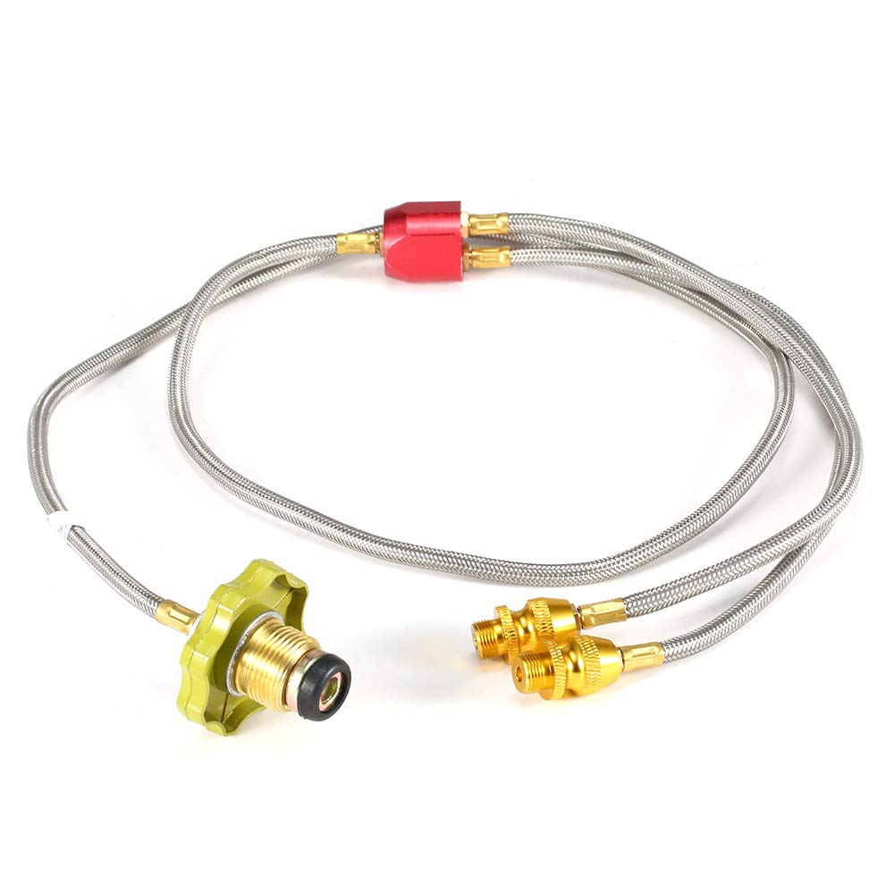 Walmeck- Adapter Hose Adapter Burner for Double Camping Stove Propane Adapter Hose for Outdoor Fishing Picnic