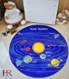 HR'S 8FTX11FT KIDS EDUCATIONAL/PLAYTIME, NON-SLIP RUG 7FT.4INX10FT.4IN (8X8 SOLAR)
