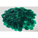 Bingo Chips--Tub of plastic 3/4 inch Approx 500ct [CHOOSE COLOR BELOW] (Green)