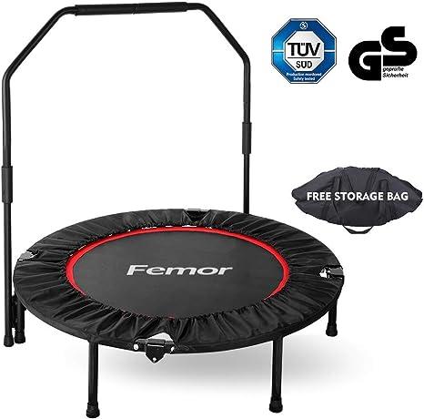 femor Trampolín Fitness Plegable, Ø101.6 cm, con Mango Ajustable ...
