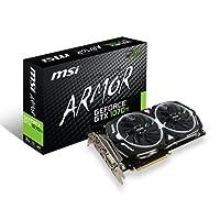 MSI GEFORCE GTX 1070 TI Armor 8G Gaming GDRR5 256-bit HDCP Support DirectX 12 SLI TORX Fan VR Ready Graphics Card