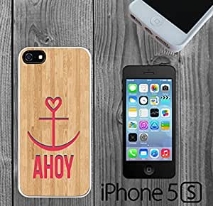 AHOY Anchor Wood Custom made Case/Cover/skin FOR iPhone 5/5s
