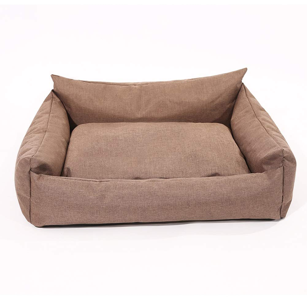 554521cm Dog Bed, Washable Cushion Removable Cover Brown color Selectable Size, Rectangular Sofa Cushion (Size   55  45  21cm)