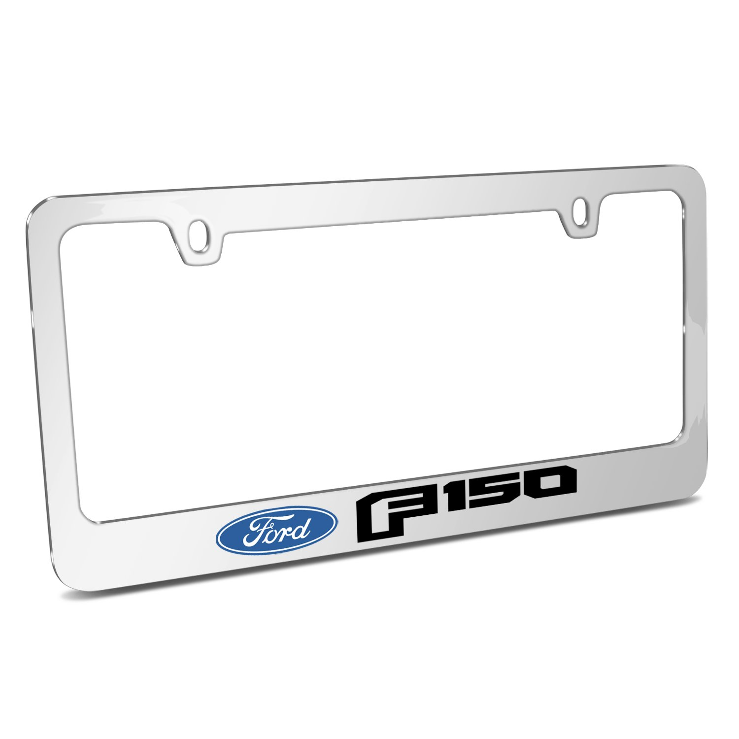 Ford F-150 2015 up Mirror Chrome Metal License Plate Frame Made in USA iPick Image