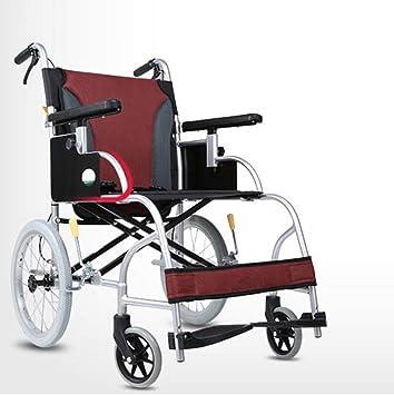Silla de ruedas Aleación De Aluminio Plegable Ancianos Deshabilitados Viajes Portátil Ultraligera De Propulsión Auxiliar