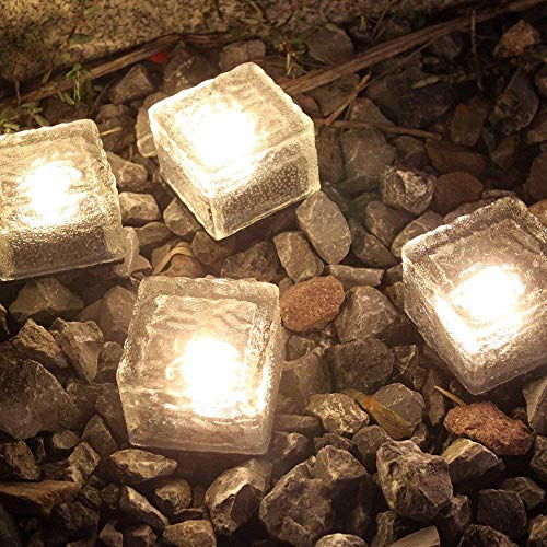 Frosted Glass Solar Brick Paver Light in US - 2