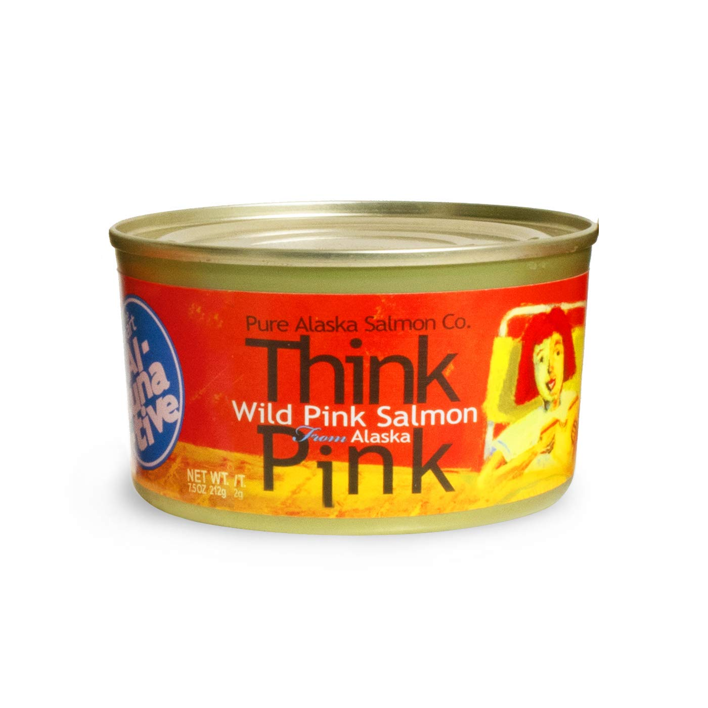 Think Pink Wild Alaska Pink Salmon -The Original Smart Al-TUNA-tive!, (12) 7.5 Oz. Cans