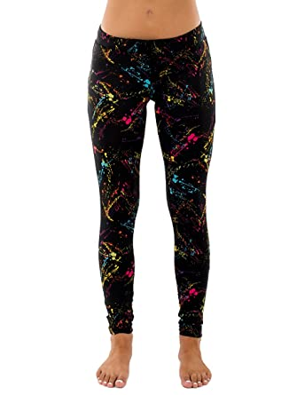 5f9aa7b4bcd Splatter Neon Leggings - Neon Retro Rainbow Tights for Women at ...