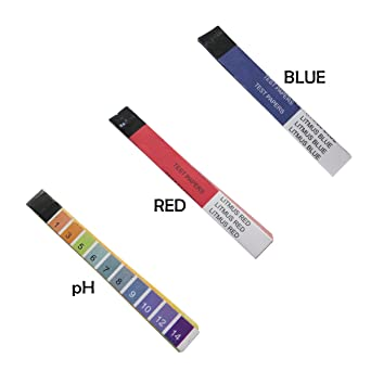 Acid base test strip