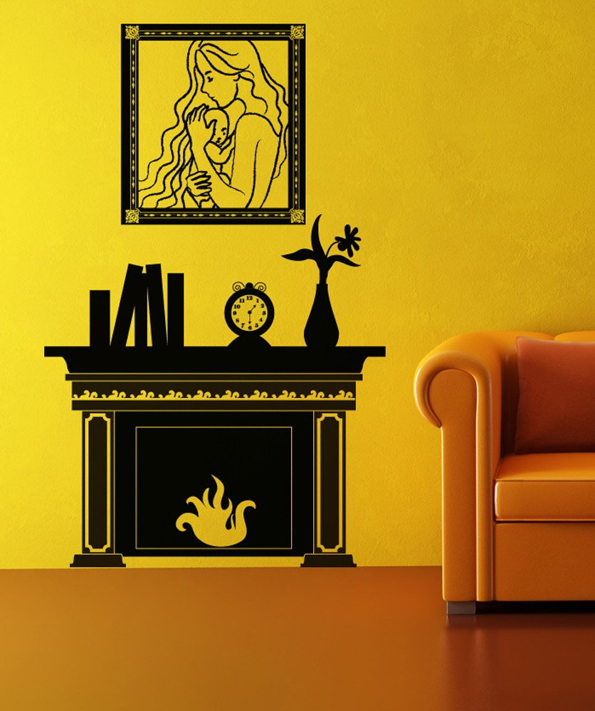 Amazon.com: Vinyl Wall Decal Sticker Fireplace OS_DC147: Home U0026 Kitchen