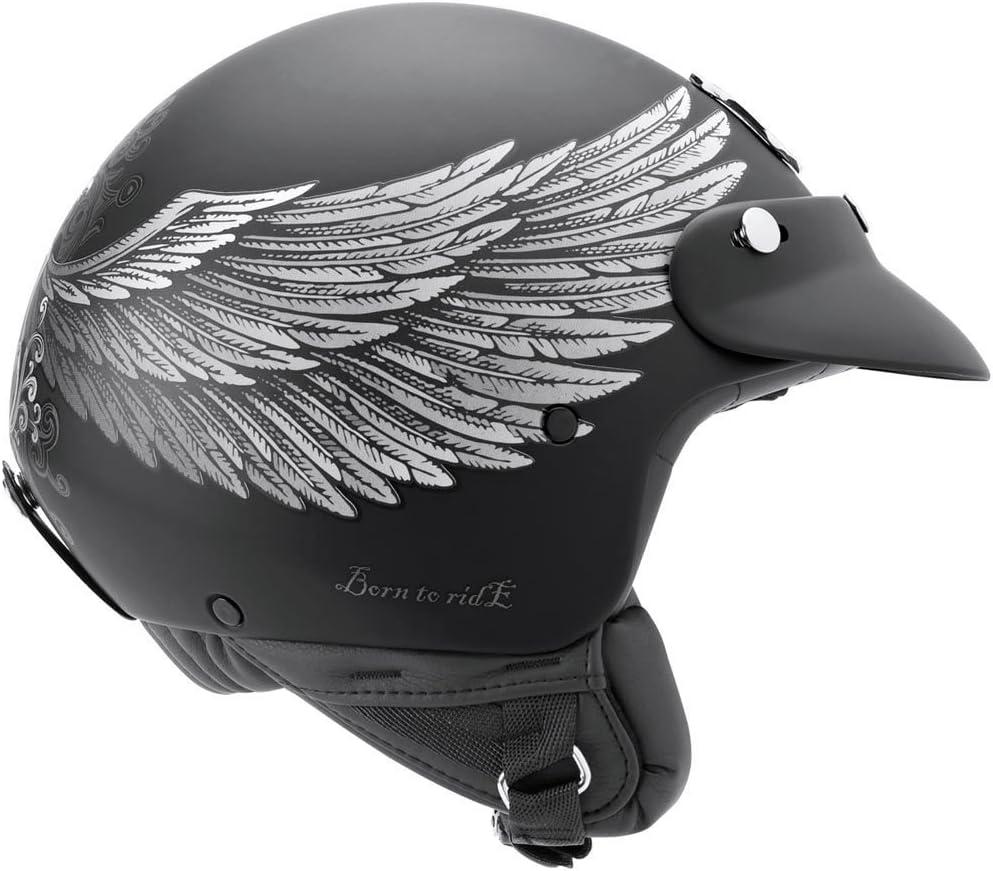 Nexx X60/Eagle Rider casco en negro suave y plata