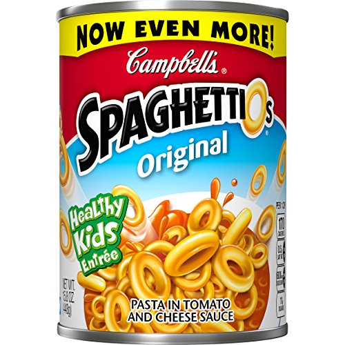 Campbell's SpaghettiOs Canned Pasta, Original, 15.8 oz. Can by SpaghettiOs