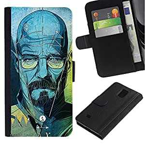 iKiki Tech / Cartera Funda Carcasa - Series Original Meth Walter Tv Jesse - Samsung Galaxy Note 4 SM-N910