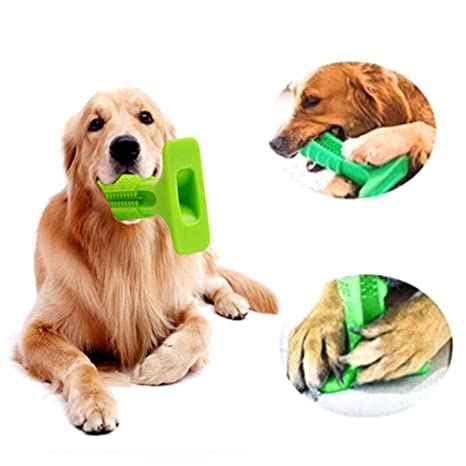 2 PCS Mascota Perro Cepillo de Dientes Diente Limpieza Palo ...