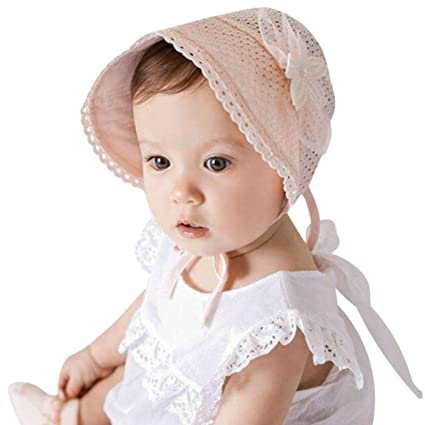 d37b01a4 Diamondo Baby Girl Summer Hat Hollow Out Flowers Decorate Beanie Cap  Adjustable (A)