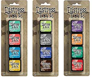 Ranger Tim Holtz Distress Mini Ink Pad Kits - #13, #14 and #15 Bundle