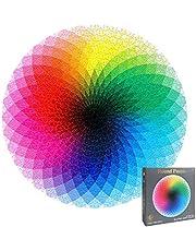 OMZGXGOD Puzzel 1000 stukjes, regenboog, ronde geometrische puzzel, creatieve regenboogpuzzel, volwassenen kinderen, doe-het-zelf, pedagogische stressvermindering, speelgoed