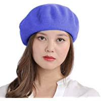 90% Wool10% Nylon Knitted French Artist Style Classic Solid Color Wool Berets Beanies Cap Hats