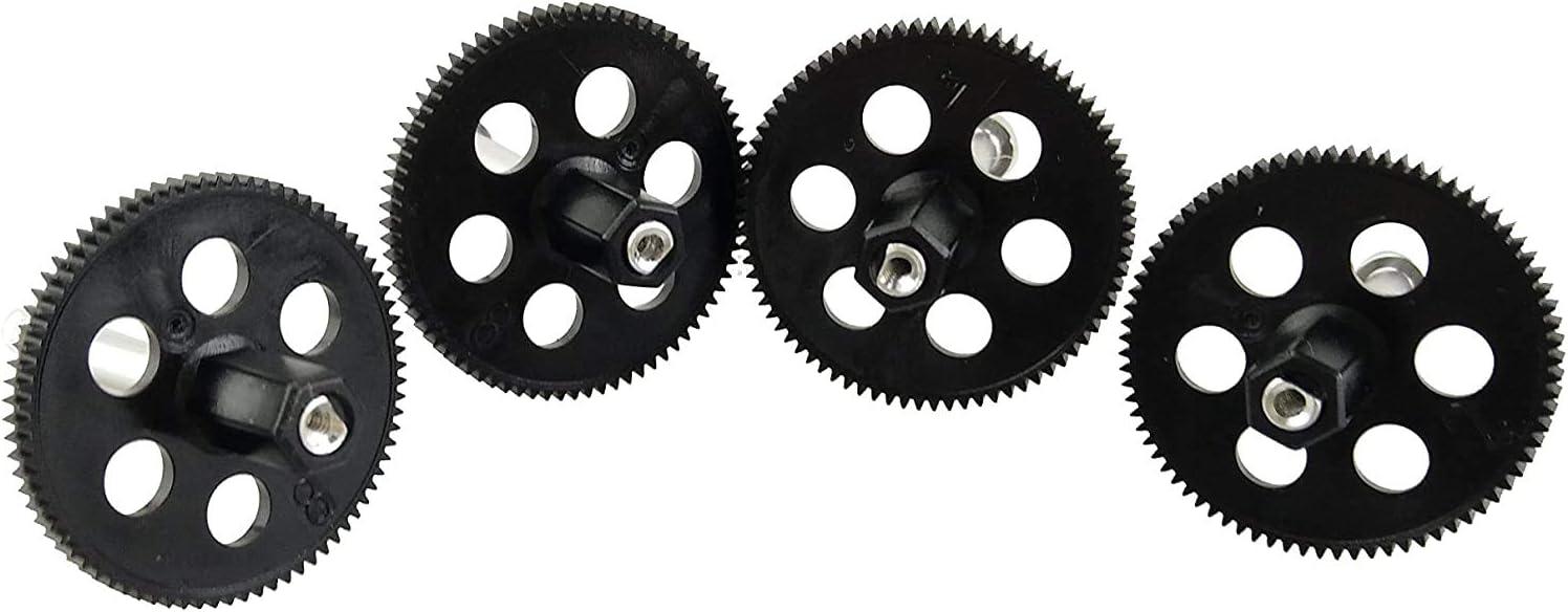 Fytoo 4pcs Motor /& 4pcs Principal Engranaje /& 4pcs Motor Gear para VISUO XS809W XS809HW XS809 XS809S Plegable Quadrotor RC Drone Accesorios