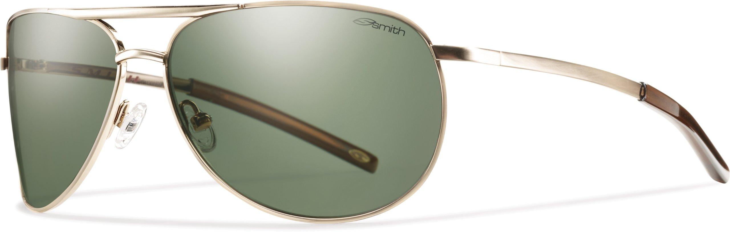 Smith Optics Serpico Slim Sunglass, Gold / Gray Green Polarized Polycarbonate