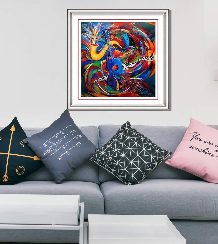 18x18 TINMI ARTS-5D Diamond Painting Full Drill Dazzling Musical Instrument-Cross Stitch Kits Crystal Rhinestone Embroidery Kits Home Wall D/écor