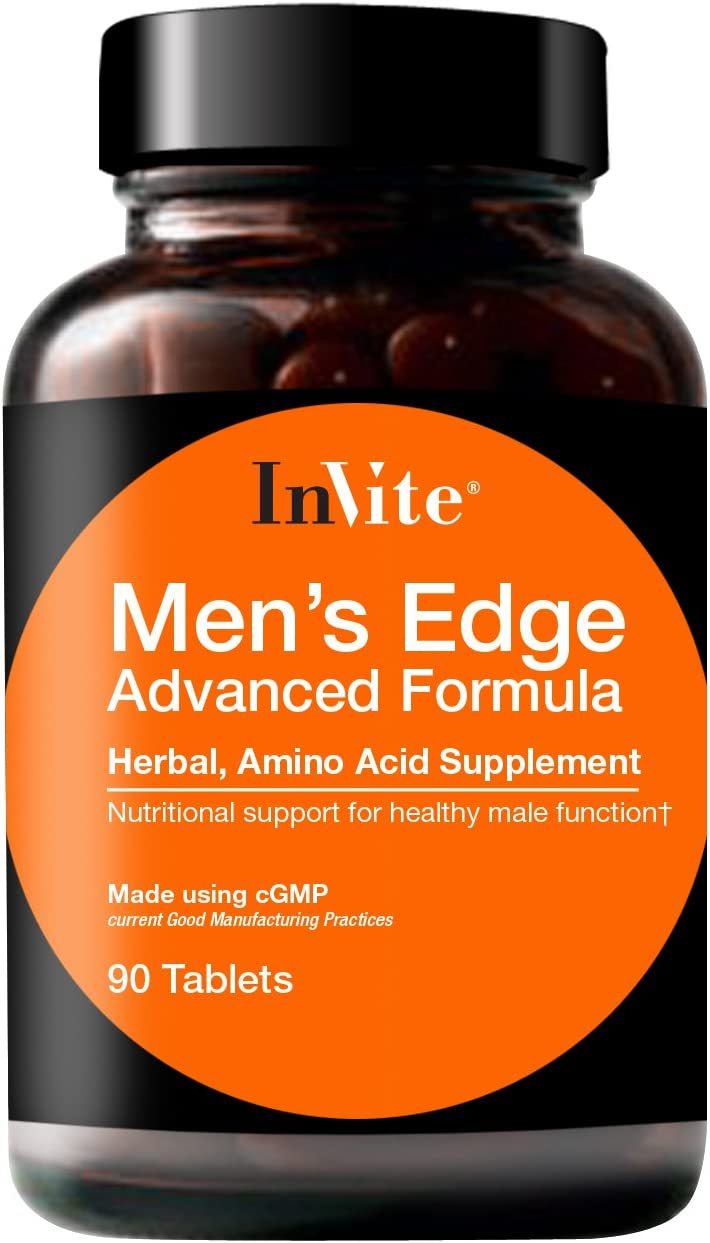 InVite Health Men's Edge Advanced, Nutritional Support for Healthy Male Functions, 90 Tablets (Pack of 1)