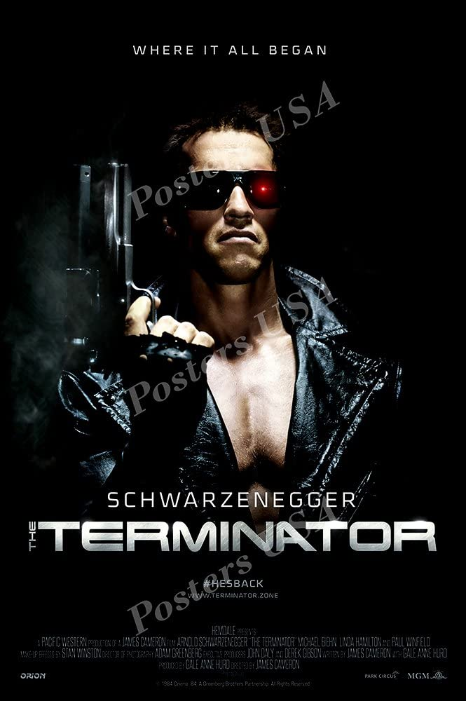 "PremiumPrints - Terminator Movie Poster Glossy Finish Made in USA - MOV076 (24"" x 36"" (61cm x 91.5cm))"