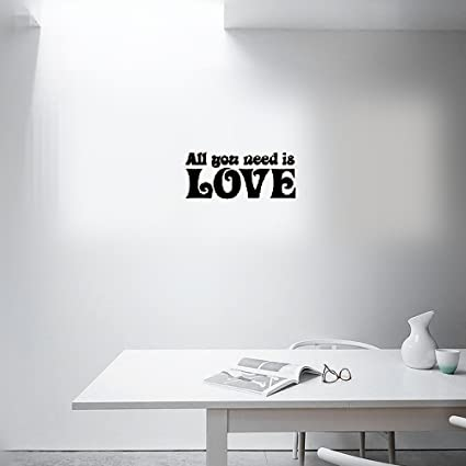 Amazon Wall Sticker Quotes The Beatles All You Need Is Love Cool Beatles Quotes Love
