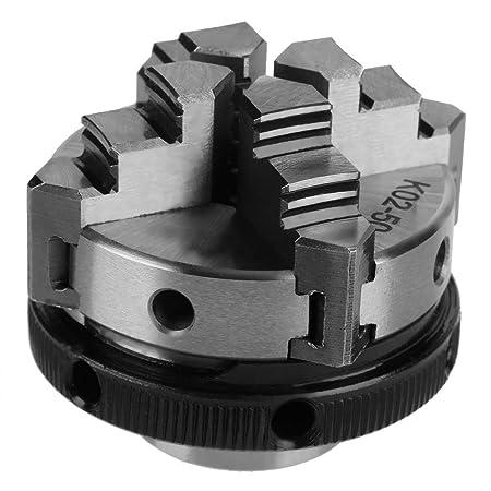 mini mandril manual de torno de montaje de rosca M14 reversible de 4 mordazas K02-50 Mandril de torno autocentrante de 4 mordazas de 50 mm