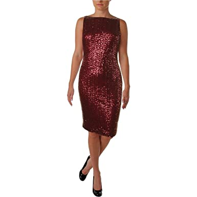 3424a45e992 Image Unavailable. Image not available for. Color  Lauren Ralph Lauren  Women s Sequin Sheath Cocktail Dress ...