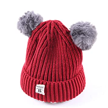 4096e7ece Amazon.com: Fheaven (TM) Winter Baby Slouchy Beanies Hats Real Fur ...