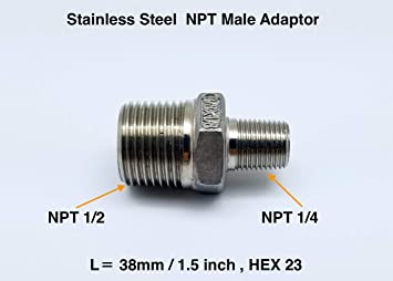 """Straight Male Insert Oring A//C Fitting in Aluminum # 10 7//8/""""-14"""