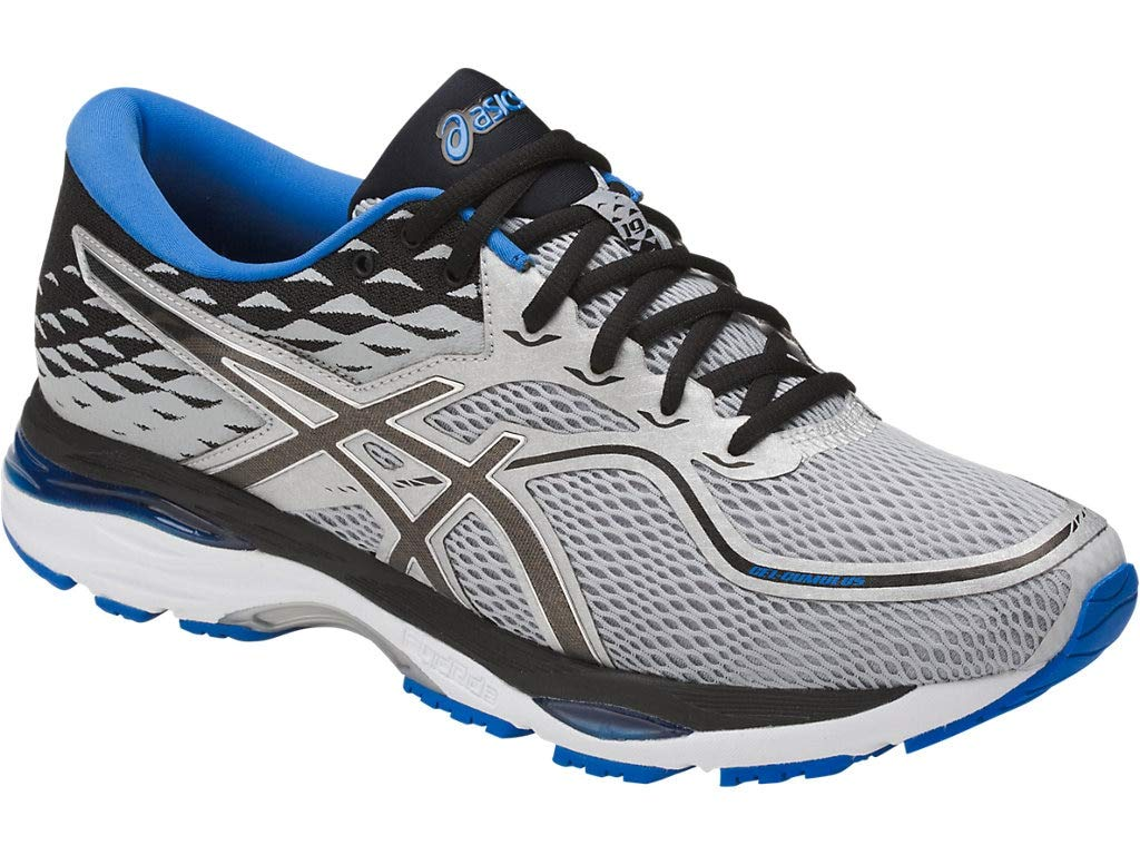 ASICS Mens Gel-Cumulus 19 Running Shoe, Grey/Black/Directoire Blue, 6 Medium US