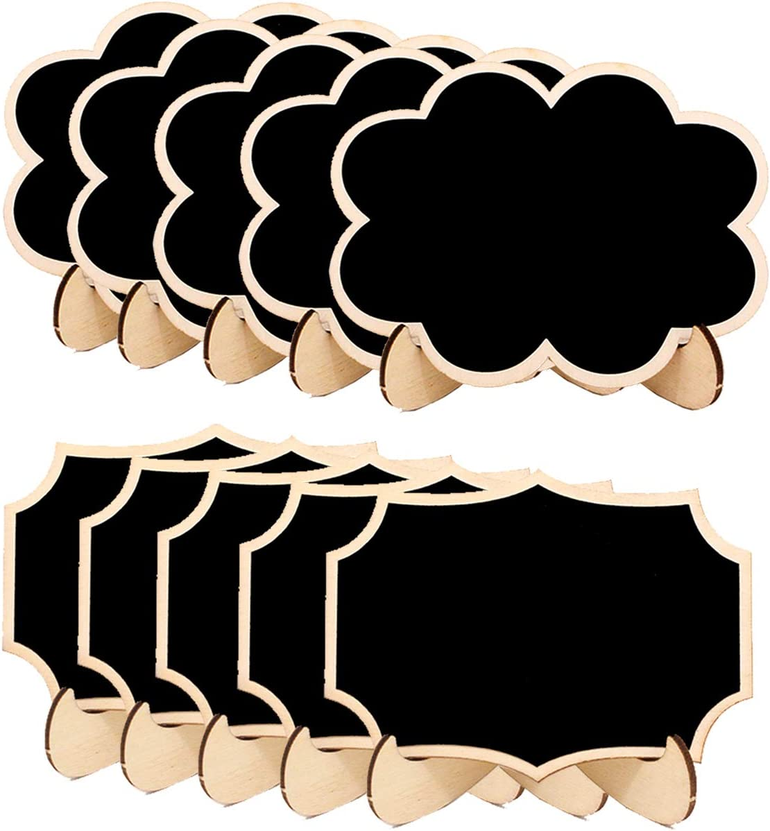 20 Pack Mini Chalkboard Signs,Wood Small Chalkboard Labels with Easel Stand Little Blackboard for Weddings Birthday Parties Food Label Table Number Message Board Favor Tag Party Decoration