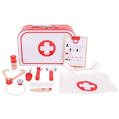Bigjigs Toys Doctor's Kit - Pretend Play, Multicolored: Toys & Games
