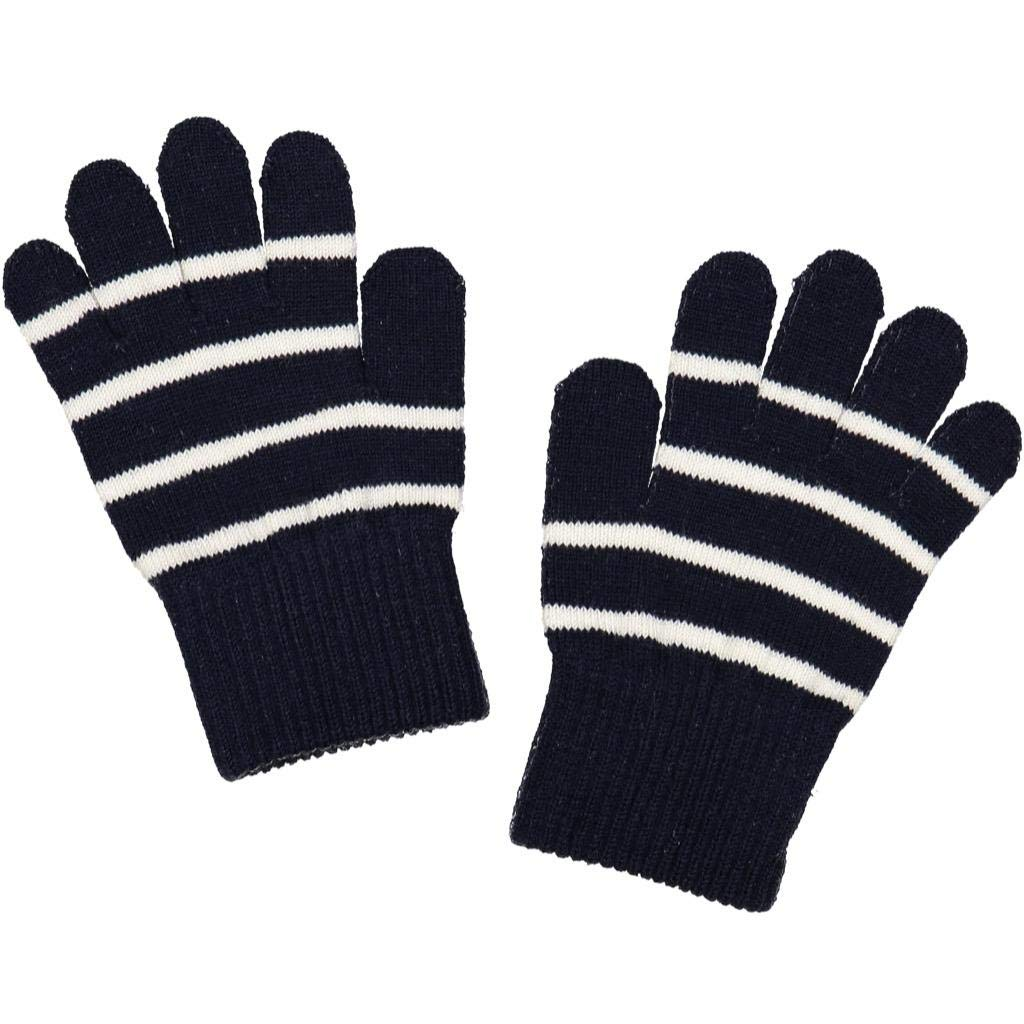 POLARN O. PYRET CLASSIC STRIPE WOOL GLOVE (6MOS-4YRS)