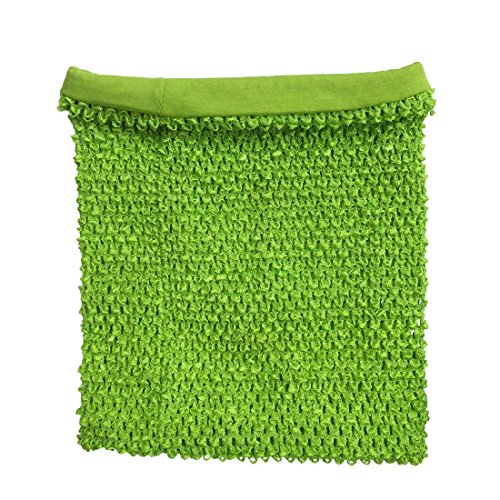 Kelly Green Crochet Tutu Top Lined 12 Inches X 10 Inches Elastic