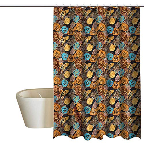 - Denruny Shower Curtains for Bathroom Mermaid Rose,Rich Floral Nostalgic Art,W55 x L84,Shower Curtain for Small Shower stall